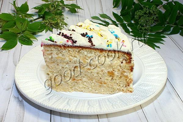 кокосовый торт с яблочным кремом