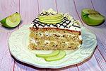 овсяный торт с яблоками