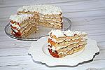 торт Шарлотка с творожным кремом