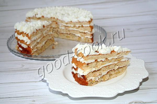 """торт """"Шарлотка"""" с творожным кремом"""