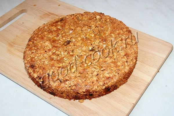 овсяный пирог с изюмом