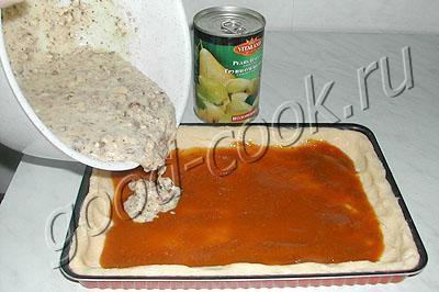 пирог с грушами и фундуком