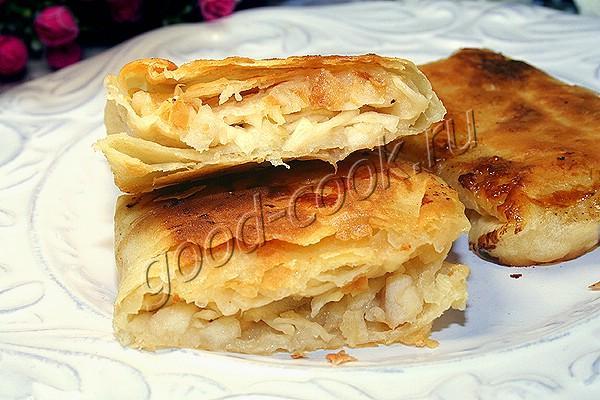 пирожки из лаваша с яблоками