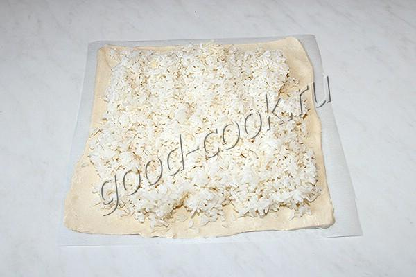 пирог с рисом и баклажанами