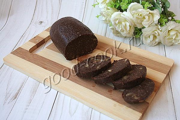 шоколадная колбаса с геркулесом