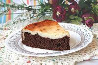 шоколадный пирог с творожной заливкой