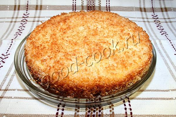 кокосовый пирог со сливками
