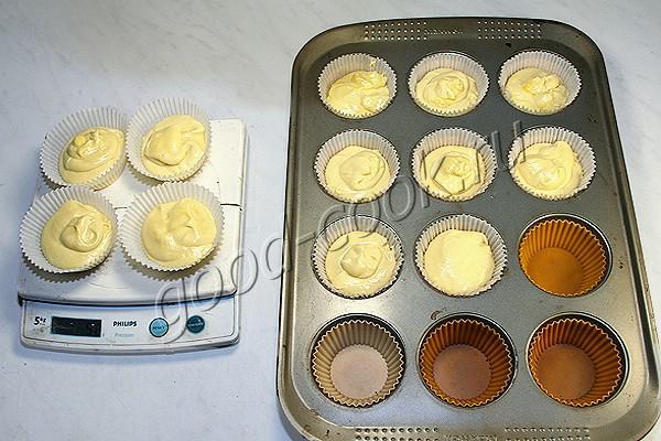 ванильные кексы на твороге