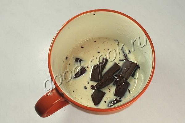 шоколадный крем для коржей (на творожном сыре)