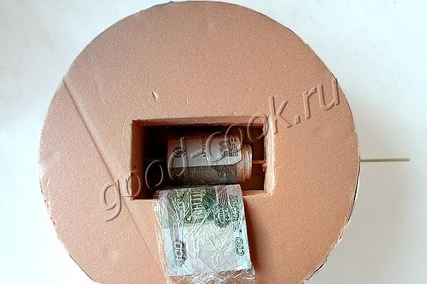 подставка для торта с деньгами