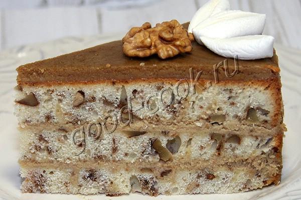 ореховый торт с кофейным кремом