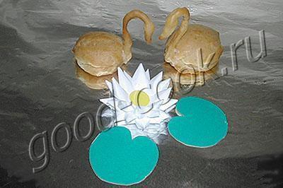 лебеди из заварного теста