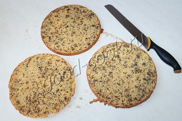 ореховый торт с апельсиновым кремом