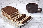кокосовый торт с шоколадным кремом (без муки)