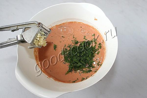 блины на томатном соке