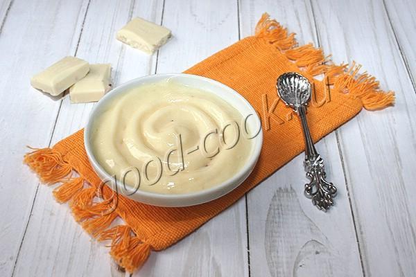 заварной крем с белым шоколадом