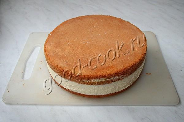 бисквитный торт с лимонным курдом