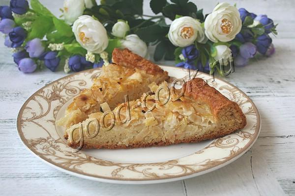 сметанный пирог с капустой