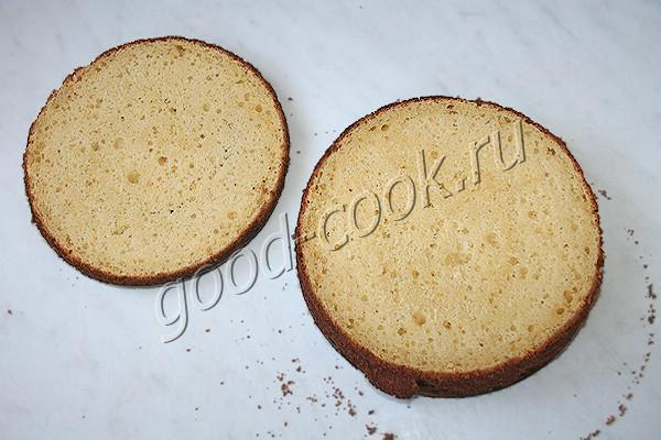 творожный бисквит на белом шоколаде
