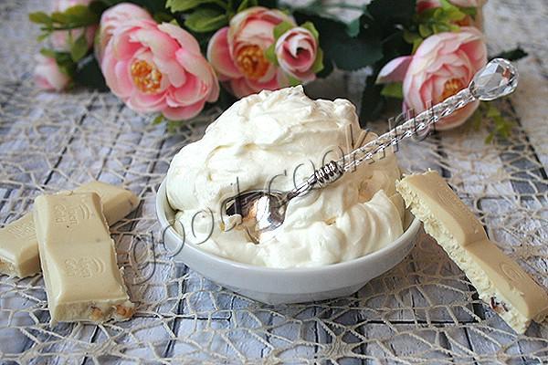 сливочный крем на белом шоколаде