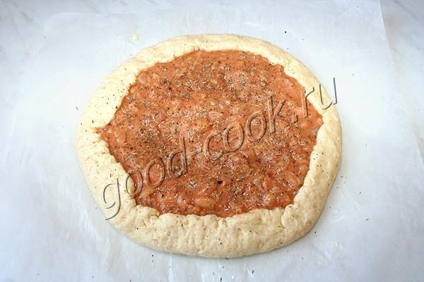 сметанный пирог с консервированной фасолью