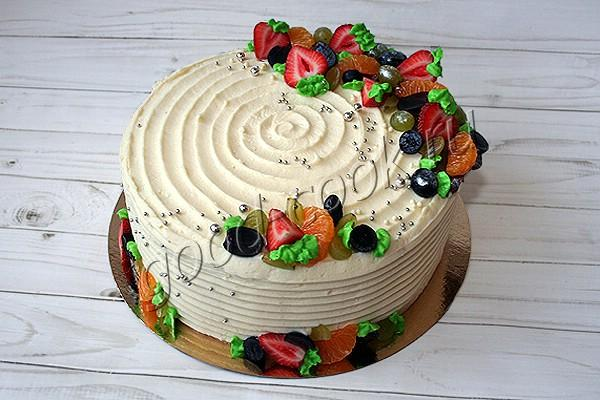бисквитный торт с абрикосовой начинкой