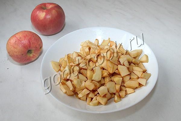 овсяные лепёшки с яблоками