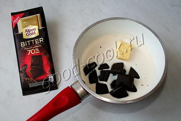 шоколадно-медовая глазурь