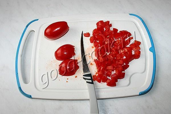оладьи с помидорами