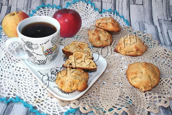 яблочные булочки с белым шоколадом