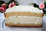 торт с чизкейком и ананасами