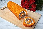 морковный рулет с мясным фаршем