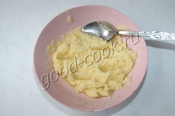 двухслойная лепёшка с картофелем