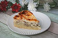 простой пирог с консервированной рыбой