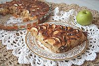 рисово-овсяный пирог с яблоками