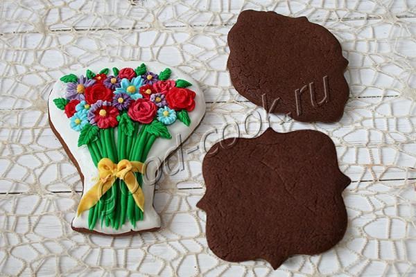 шоколадно-медовые пряники под роспись