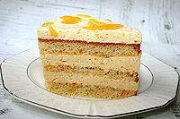 Торт с апельсиново-сливочным муссом