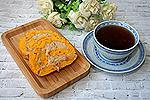 морковный рулет с яблочным кремом