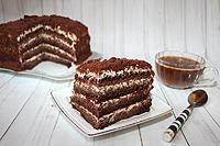 """шоколадно-медовый торт """"Золотой ключик"""""""