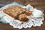 кофейный овсяный пирог со штрейзелем