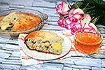 несладкий пирог с цельными желтками