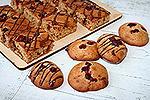 медовое печенье с шоколадом и клюквой