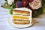 морковный торт с цукатами и апельсиновым желе