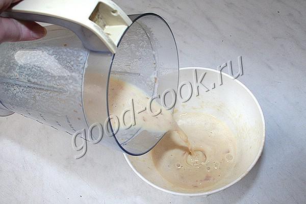 лепёшка с сырокопчёной курицей (взбитая)
