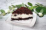 шоколадный торт Крошки со сметанным муссом (без выпечки)