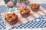 ореховые кексы с ягодами