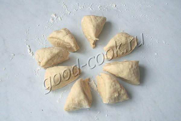 тонкие жареные лепёшки из сметанного теста