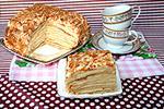 торт Наполеон без раскатывания коржей