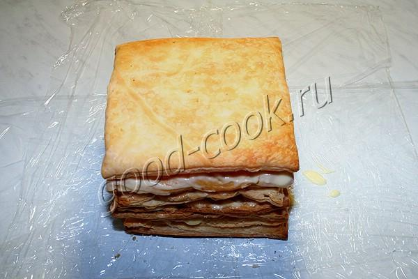 "торт ""Наполеон"" без раскатывания коржей"