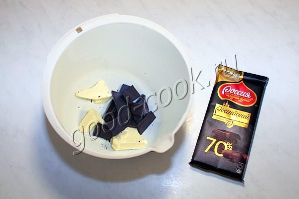 масляный бисквит на шоколаде